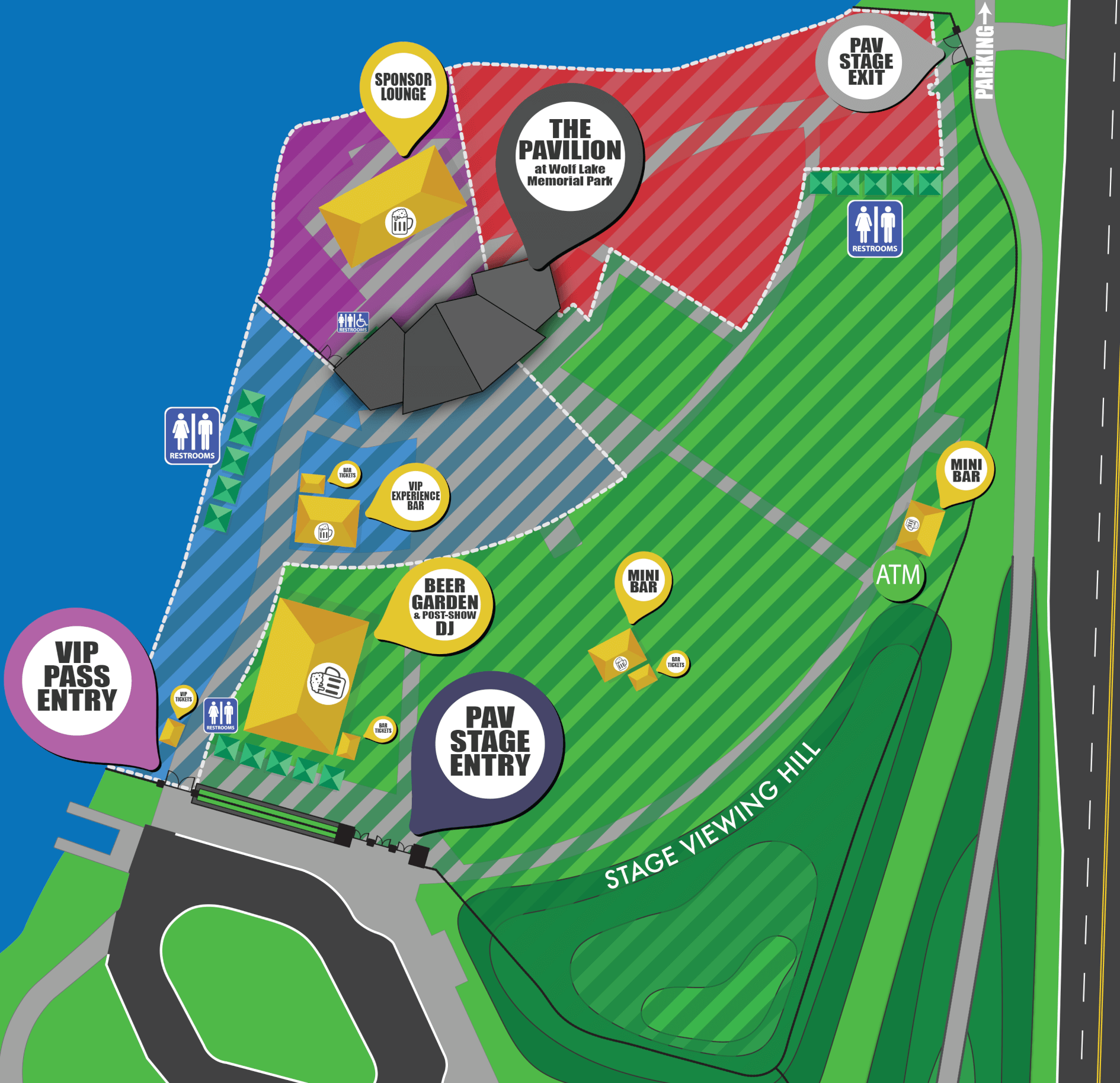 Main Stage Zones Map