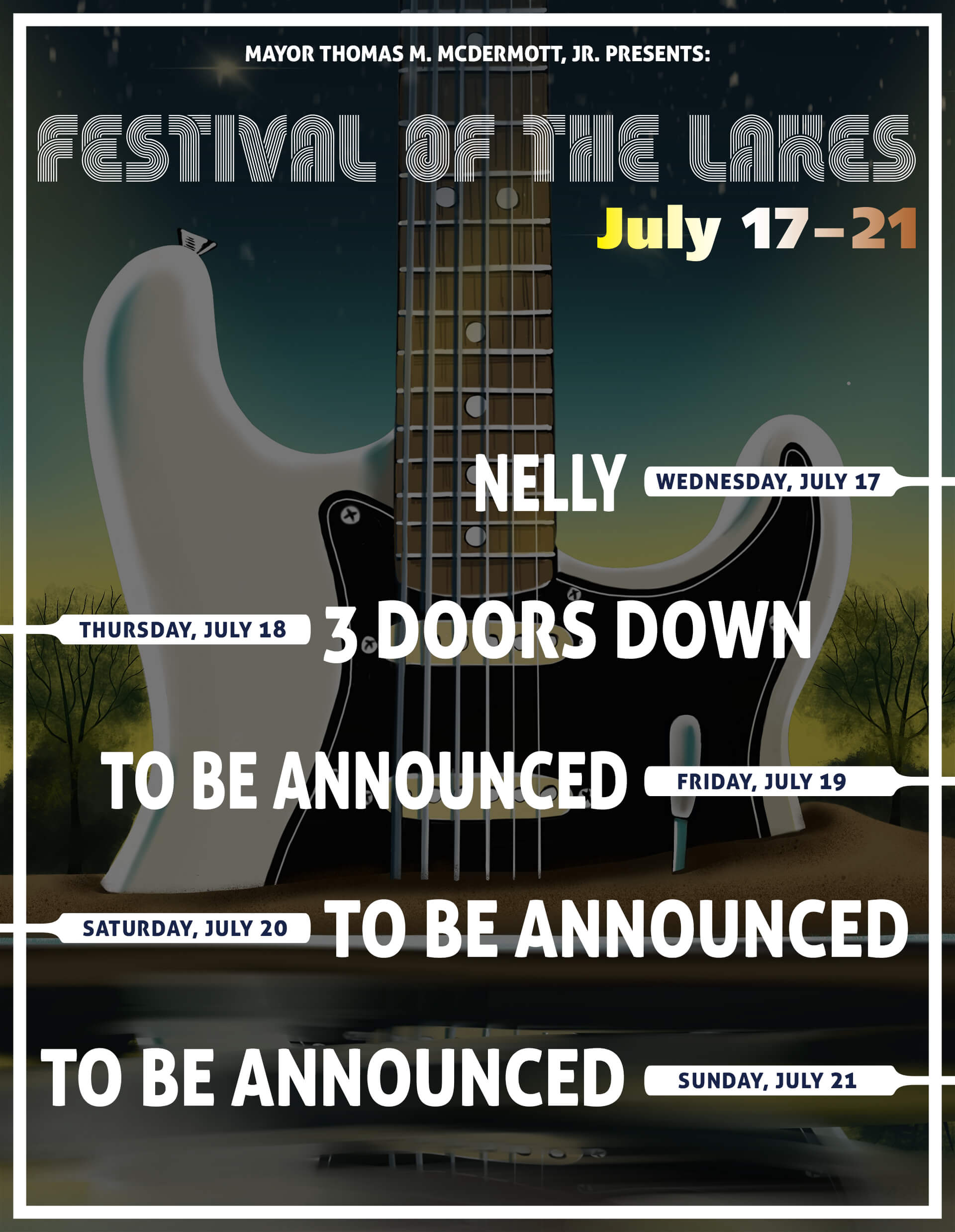Festival of the Lakes Music Lineup